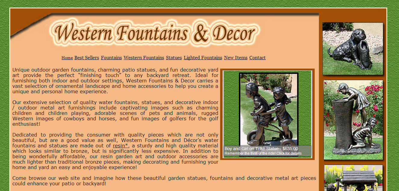 Western Fountains and Decor Sample Image